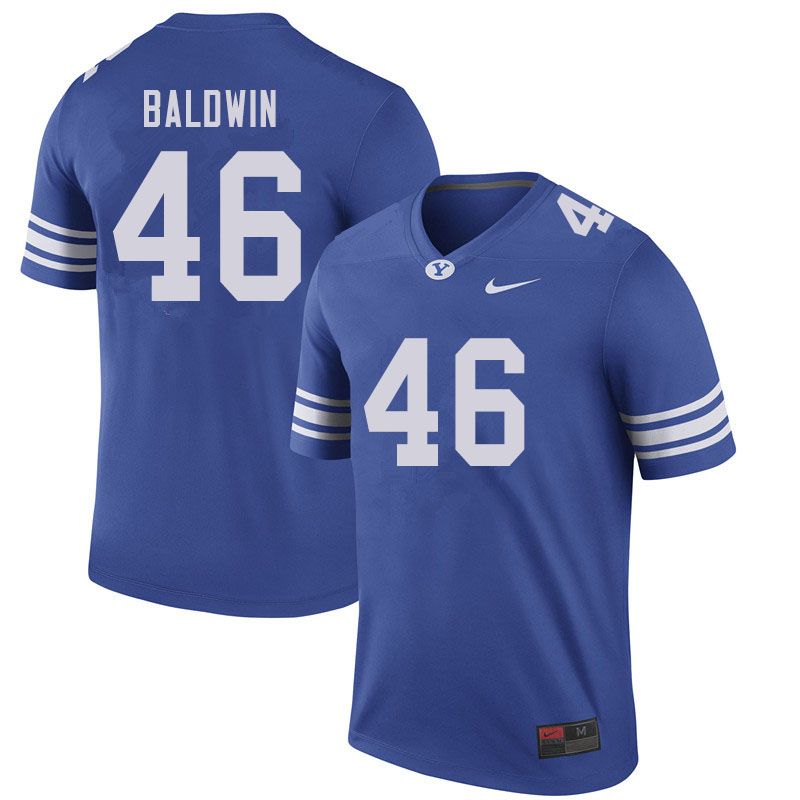 Men #46 Sam Baldwin BYU Cougars College Football Jerseys Sale-Royal